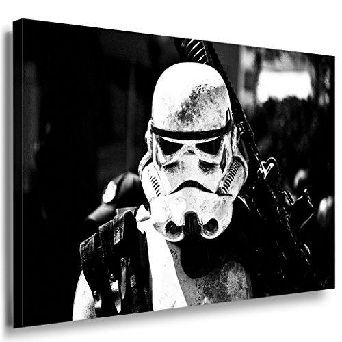 Star Wars Stormtrooper Leinwandbild LaraArt Bilder Schwarz-Weiss Wandbild 40 x 30 cm