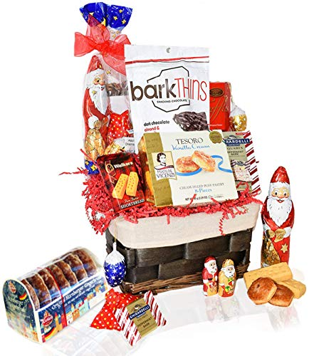Christmas Basket - Santa, Chocolate, Gourmet, Food, Holiday Gift Variety for Family, Friends,...
