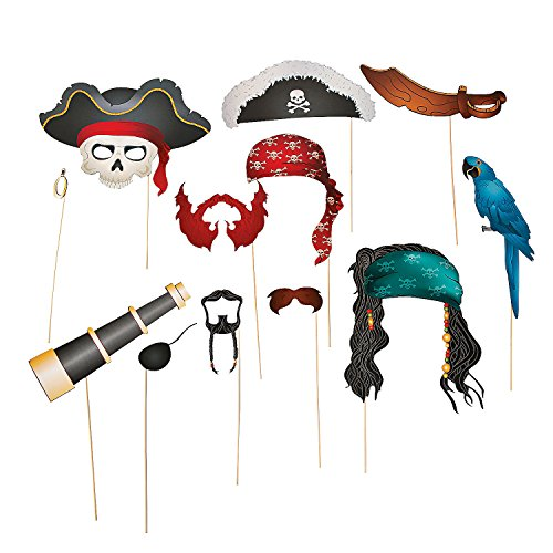 Pirate Photo Props (12 Pieces)