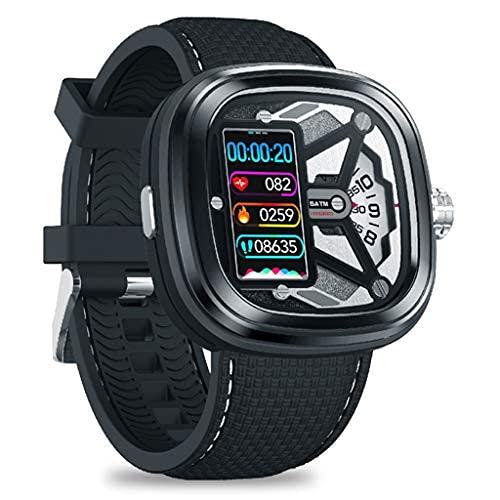 HQPCAHL - Reloj mecánico con monitor de ritmo cardíaco, monitor de actividad, contador de pasos, monitor de sueño, contador de calorías, podómetro