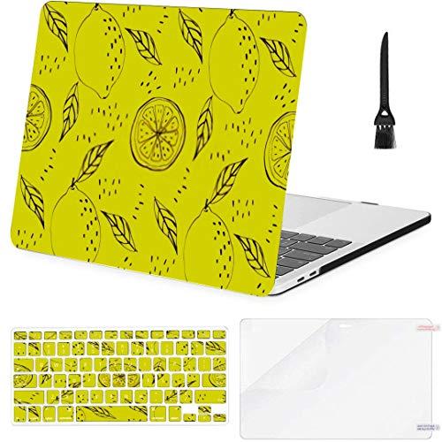 MacBook Pro Case Seamless Vectror Background Lemons Lemon Pattern MacBook Retina 12' A1534 Plastic Case Keyboard Cover & Screen Protector & Keyboard