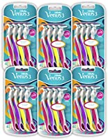 Gillette Simply Venus 3 Plus Jednorazowe maszynki do golenia dla kobiet, 6 x 4 sztuki