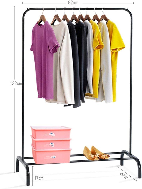 DYR Floor Type Multifunctional Coat Hooks Easy to Move Hangers Coat Hooks Two Sizes (color  Black, Dimensions  132  92 cm)