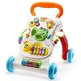 Silla de paseo y juguetes de cochecito Baby Walker And Activity Game Center Sit-to-Stand Aprendizaje Walker Carritos de empuje Juguetes for niños pequeños Coche con luz musical Instrumento extraíble P