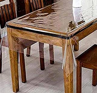 DiamondHome Clear_Transparent Tablecloth Heavy Duty Kitchen Table TOP Cover Water Proof Hard Plastic Vinyl Spills Protector (60