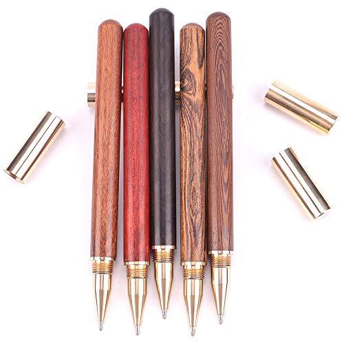 Dasing 5 Teile/Los Holz mit Messing Kugelschreiber 0,5 Mm Tinte Kugelschreiber zum Schreiben