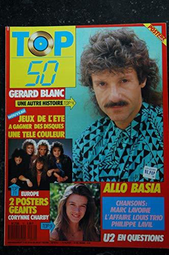TOP 50 072 1987 07 CORINNE CHARBY GERARD BLANC EUROPE BASIA U2 MARC LAVOINE