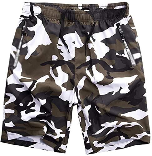 ZHENWULU Verano Hombre Playa Pantalones Cortos Hombres rápi