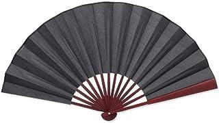 None branded Hombres Plegable Bamboo Fan Fan Wedding Party Regalo Ventilador de Seda Plegable Ventilador de Mano (Negro)
