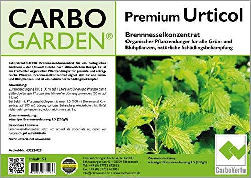 CARBOGARDEN Hochwertigstes Premium Brennnesselkonzentrat 5 Liter - 5