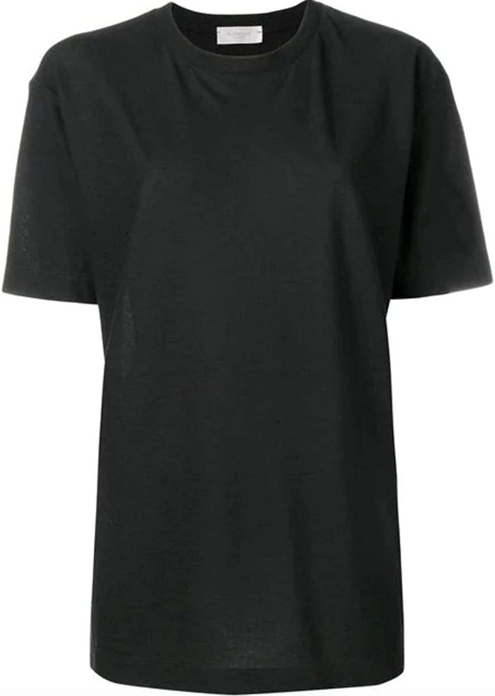 ZANONE Women's 851821Z0480Z0015 Black Cotton TShirt