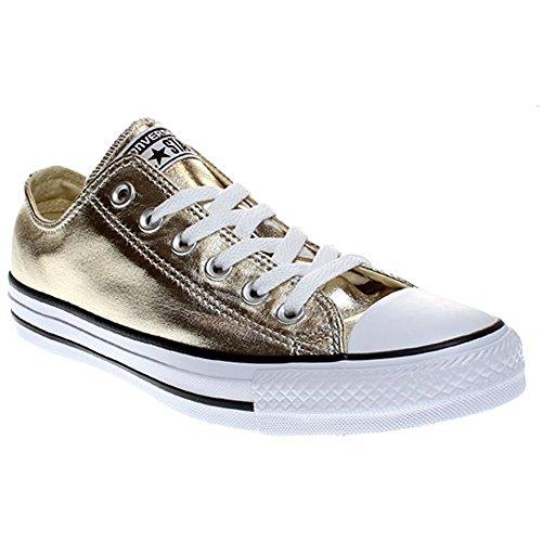 Converse Unisex-Erwachsene Seasonal Metallic Sneaker, Mehrfarbig (Light Gold/White/Black), 37 EU