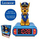 LEXiBOOK RL800PA Paw Patrol Digital Alarm Kids with Night Light Snooze and Dogs Sound Effects Childrens Clock Luminous Chase, Blue Colour