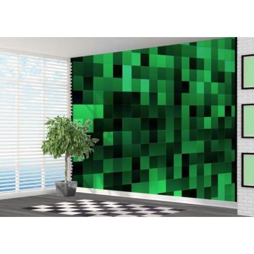 Green Pixel Art Pattern Wallpaper Wall Mural Wall Art 3D - 2XL