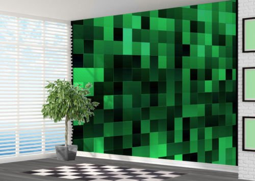 art pattern mural wallpaper amazon co ukgreen pixel art pattern wallpaper wall mural wall art 3d 2xl