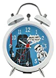 Star Wars Darth Vader e Stormtrooper Mini Twin Bell Clock, Bianco