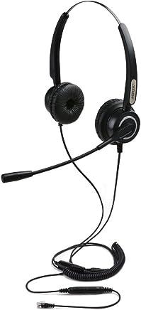 Cuffia PC Microfonica, AGPtek vivavoce cuffia binaurale universale Call Center cuffie telefoniche, migliore qualità del suono con cancellazione del rumore Mic + 3,5 MM QD + Volume Mute, Nero - Trova i prezzi più bassi