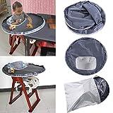 Protection de Repas pour Enfant et Bébé Hunpta - Protection Étanche pour Chaise Haute
