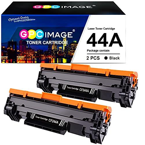 GPC Image 44A CF244A Cartuccia Toner Compatibile per HP CF244A per HP Laserjet Pro M15a M15w MFP M28a M28w Stampante (2 Nero)
