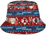 Unisex Bakery Bakery Treats Midnight Print Travel Bucket Hat Gorra de Pescador de Verano Sombrero para el Sol-Jugador Nacional de béisbol