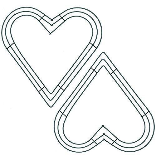 Dunkelgrüne Kranz Rahmen Metallblumen-Kranz-Rahmen für Neues Jahr Valentinsgruß Party Dekoration (Stil A, 2 Stück, 12 Zoll)