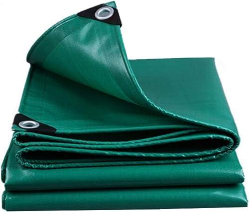 MuMa Bache épaissir Imperméable Imperméable Crème Solaire Ombre Couverture Pluie De Plein Air Toile (Couleur   vert, Taille   4  4m)