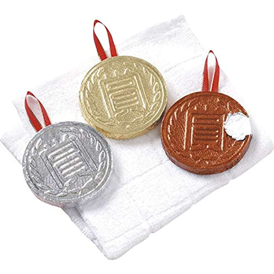 明確な時計フラッシュのように素早くメダルタオル(小) 銀 【メダル 賞 大会 スポーツ イベント 記念品 粗品 圧縮タオル 表彰 セレモニー かわいい 運動会 レクリエーション】