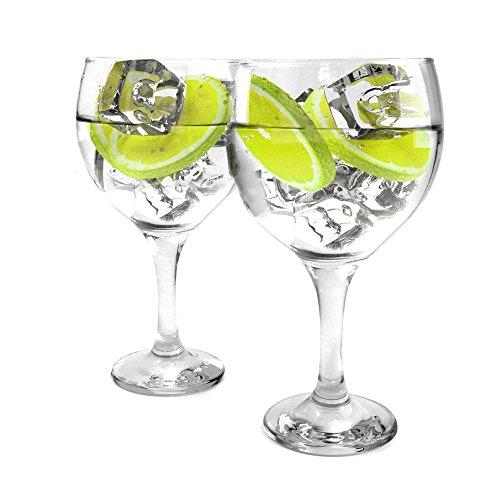 Ginsanity Lot de 2 Coupe de Verres Gin & Tonic Ballon Cocktail/Lunettes dans Une Boîte Cadeau [550ml]