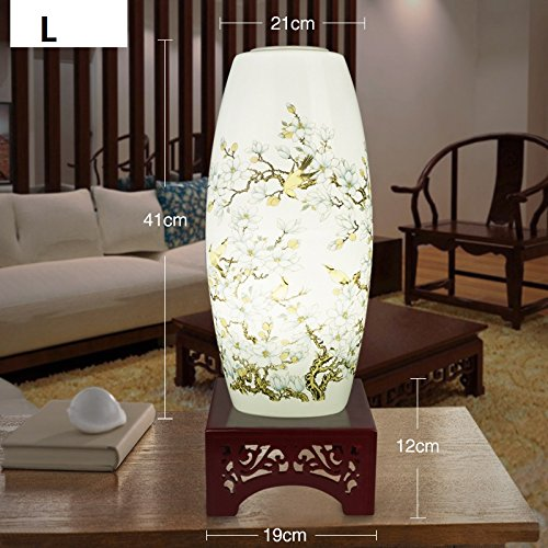 Handbemalte Porzellan Tischleuchte Wohnzimmer Schlafzimmer Studie Nachttischlampe moderne Chinesische antike Hochzeit Geschenk Schreibtischlampe L
