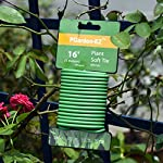 Soft Twist Tie Garden Plant Tie 12 : Green Plant tapes soft TPR, garden twist tie, garden tie for plants. 16 feet long of 5 mm / 0.197 inches width (diameter). : UV Inhibitor included in TPR material, lasts long among your garden supplies. : Supporting tomatoes and roses, this twist tie works well with organizing flowers and vegetations in the garden.