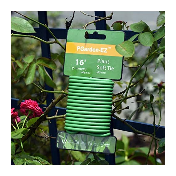 Soft Twist Tie Garden Plant Tie 6 : Green Plant tapes soft TPR, garden twist tie, garden tie for plants. 16 feet long of 5 mm / 0.197 inches width (diameter). : UV Inhibitor included in TPR material, lasts long among your garden supplies. : Supporting tomatoes and roses, this twist tie works well with organizing flowers and vegetations in the garden.