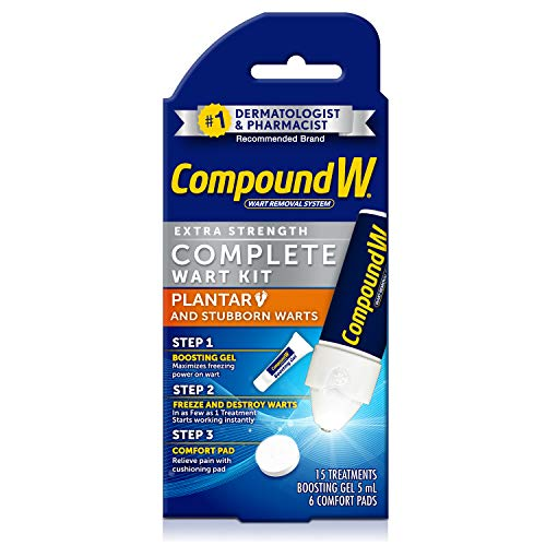 Compound W Freeze Off Complete Wart Kit for Plantar & Stubborn Warts, 15 Applications
