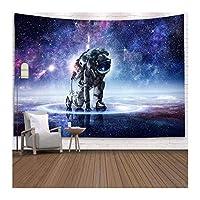 100%ポリエステルスペーススロータペストリーの家の装飾宇宙飛行士のプリント壁掛け毛布のベッドスプレッド大旅行惑星マット (色 : GT YHY03, サイズ : Large)