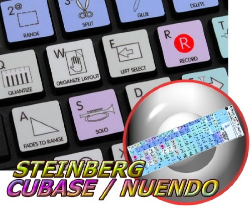 Price comparison product image APPLE SIZE STICKER FOR KEYBOARD STEINBERG CUBASE / NUENDO GALAXY SERIES