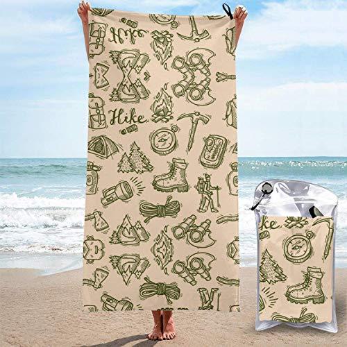 Toallas de Playa sin Arena Bolsa Web Toallas de Playa de Secado rápido Toalla de baño Toalla de Playa de Viaje, Toalla Deportiva de natación al Aire Libre para Mujeres Hombres Accesorios de Playa