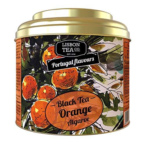 Lisbon Tea No. 82 Schwarzer Tee Orange   Aromatisierter Schwarztee mit Algarven Orange   Natürlich süß und intensiv   Teeinfrei   Loser Infusions Tee