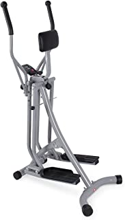AKONZA Air Walker Glider Stride Elliptical Trainer Fitness Exercise Step Machine Workout Equipment w/Computer Monitor