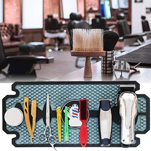 WANGXN Salon de Coiffure Silicone Anti-dérapant Barber Outils de Coiffure Tapis Pad Curler Holder Resist HeatStyling Accessoires Sèche-Cheveux Tapis