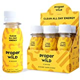 Proper Wild | All Natural Plant Based Energy Shot | Clean Long Lasting Energy & Focus Drink | All Day Extra Strength Energy With No Crash | No Artificial Sweetener or Preservatives | Ginger (6 Pack)