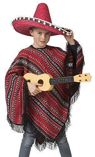 Das Kostümland Mexikaner Poncho Milan für Kinder - Kostüm Mittelamerika Südamerika Peru Chile Anden Mädchen Jungen Länder Fasching Mottoparty