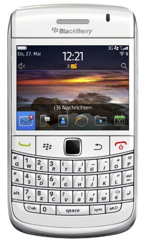 Blackberry Bold 9780 Smartphone (QWERTZ Tastatur, 6.2 cm (2.44 Zoll) Bildschirm, HSDPA, WiFi, 5MP Kamera, 2GB Speicherkarte) weiß