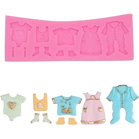 SYGA Baby Clothes Shape Silicone Chocolate Fondant Biscuit Molud Cake Decorating Baking Mould