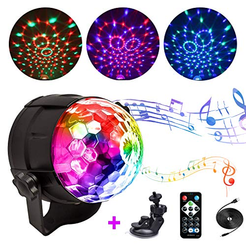 Party Lights Disco Party Ball Lights, yayali Sound Activated Party Lights with Remote Control, Sound Activated Dj Stage Strobe Light, Strobe Lamp 7 Modes Stage Par Light for Birthday Dance Home KTV