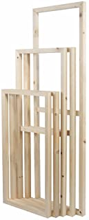 """5 Pieces Wooden Inner Frames Set Match for Canvas Wall Art Paintings, 80x150cm Overall (32x60 inch Overall), 30x40cm + 30x60cm + 30x80cm + 30x60cm + 30x40cm (1"""" Premium Thick, Bracket Mounted)"""