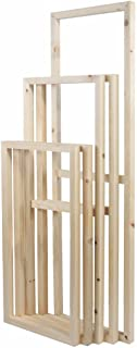 5 Pieces Wooden Inner Frames Set Match for Canvas Wall Art Paintings, 80x150cm Overall (32x60 inch Overall), 30x40cm + 30x60cm + 30x80cm + 30x60cm + 30x40cm (1