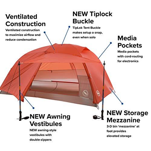 Big Agnes Unisex's Copper Spur Tent, Orange, 2 Person