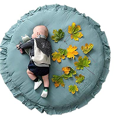 ROSEBEAR Baby Round Play Pad Soft Crawling Mat, Detachable Washable Game Blanket Floor Playmats Kids Infant Child Activity Round Rug Home Room Decor