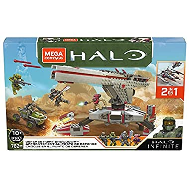 Mega Construx Halo Defense Point Showdown Halo Infinite Construction Set with Master Chief Character Figure, Building…