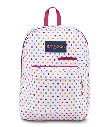 JanSport Digibreak Laptop Backpack- Sale Colors (Spot-O-Rama White)