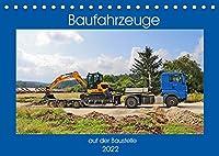 Baufahrzeuge auf der Baustelle (Tischkalender 2022 DIN A5 quer): Baufahrzeuge im realen Baustellenbetrieb (Monatskalender, 14 Seiten )
